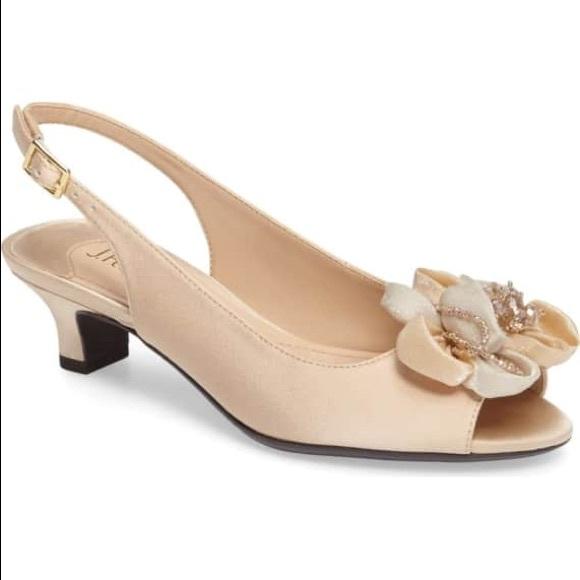 126608e5dbf J.Renee Leonelle Slingback Crystal Sandal Heels